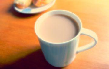 カフェインレスのカフェオレ