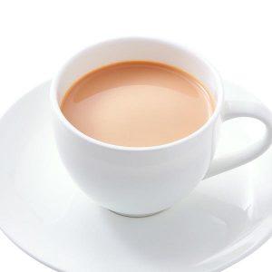 カフェインレスの無糖ミルク珈琲